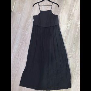 Free People S black crinkle gauze maxi dress boho